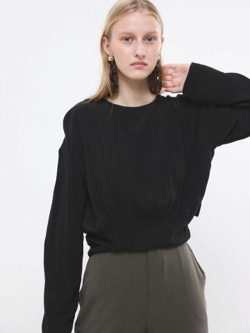חולצה עם פס מותן רחב
