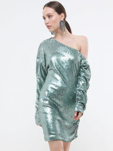 שמלת פאייטים מיני וואן שולדר