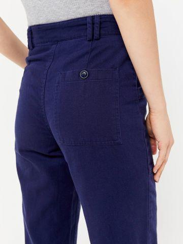 מכנסיים ארוכים בגזרה גבוהה עם כפתורים BDG