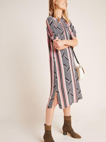 שמלת מקסי בהדפס צורות גיאומטריות