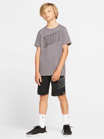 מכנסי ספורט Dri-Fit קצרים עם הדפס לוגו