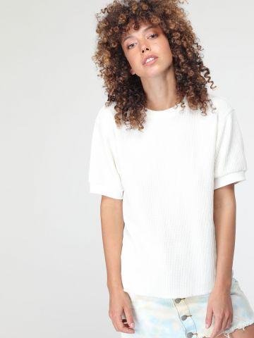 חולצת סריג בטקסטורת וופל של UNIQLO