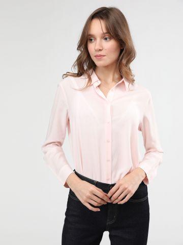 חולצה מכופתרת עם סיומת מעוגלת של UNIQLO