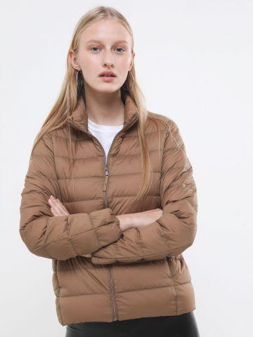 מעיל קווילט עם צווארון גבוה Ultra Light Down Jacket