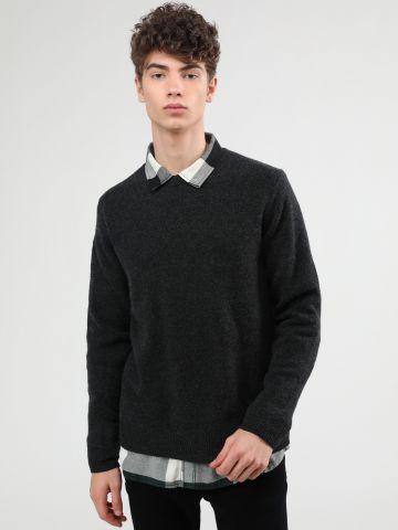 סוודר צמר בייסיק