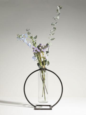 אגרטל זכוכית עם מעמד עגול