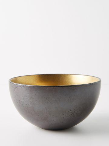 קערת הגשה מפורצלן בגימור זהב Lydia