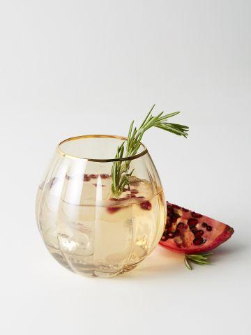 מארז 4 כוסות נמוכות עם שפה מוזהבת Soho Home