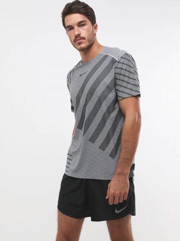 מכנסי ריצה רשת קצרים עם לוגו
