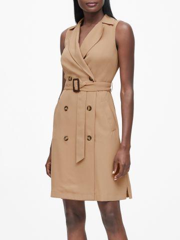 שמלת מיני טרנץ' עם חגורה