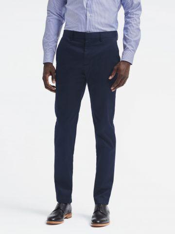 מכנסי צ'ינו Slim מחויטים / גברים