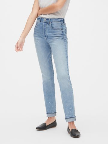 ג'ינס גבוה בשטיפה בהירה