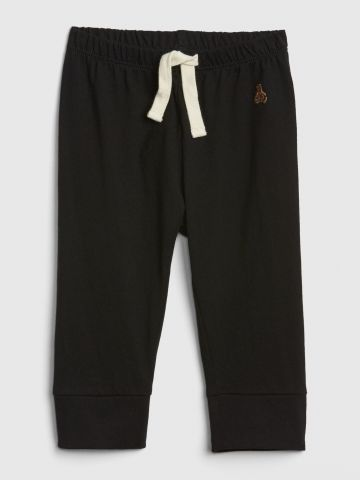 מכנסי טרנינג עם רקמת דובי / 0-24M