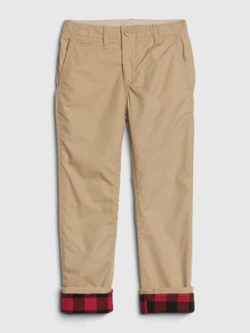 מכנסי צ'ינו עם בטנת משבצות / בנים