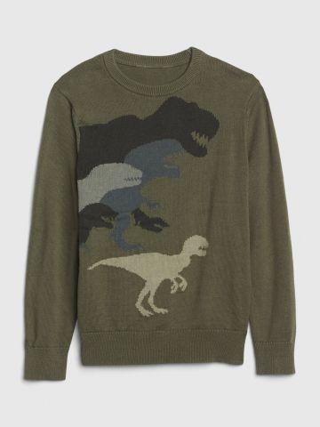 סריג עם דוגמת דינוזאורים / בנים