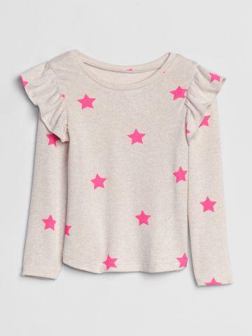 חולצת סריג עם דוגמת כוכבים / 12M-5Y