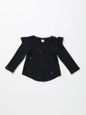 חולצת סריג עם הדפס לבבות / 12M-5Y
