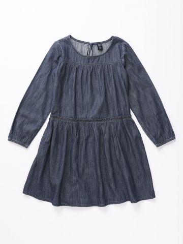 שמלה דמוי ג'ינס עם מלמלה / בנות