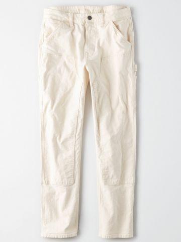 מכנסיים ארוכים עם פאנל דקורטיבי / גברים