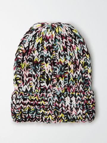 כובע צמר סרוג מולטי קולור