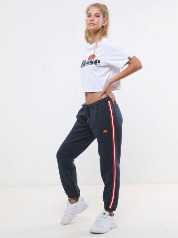 מכנסי טרנינג עם סטריפים ולוגו