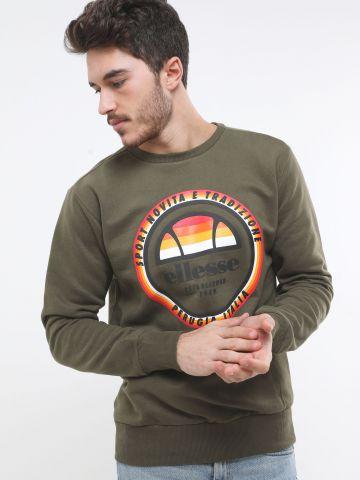 סווטשירט פוטר עם הדפס לוגו