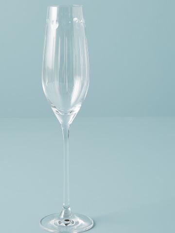 כוס שמפניה מקריסטל עם עיטורים עדינים Soho Home