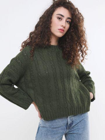 סוודר בייסיק בדוגמת פסים
