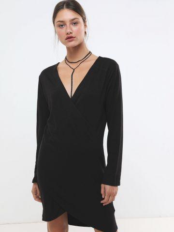 שמלת מיני מעטפת וי
