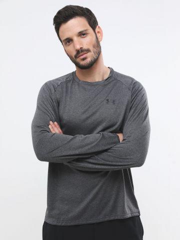 חולצת אימון עם הדפס לוגו Heatgear