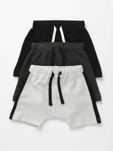 מארז 3 מכנסיים קצרים פרנץ' טרי / 6M-6Y