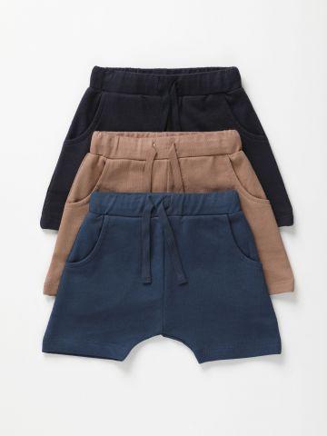 מארז 3 מכנסיים קצרים פרנץ' טרי / 6M-6Y של TERMINAL X KIDS