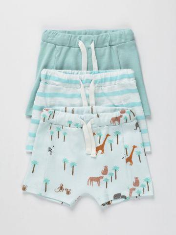 מארז 3 מכנסיים קצרים בצבעים שונים / 3M-2Y