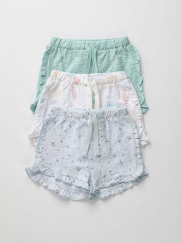 מארז 3 מכנסיים קצרים בהדפסים שונים / 3M-2Y