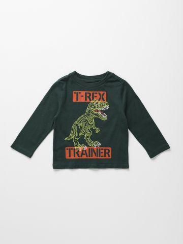 טי שירט T-Rex שרוולים ארוכים / 9M-4Y