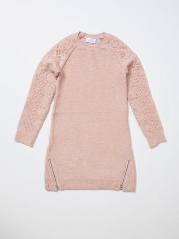 שמלת סוודר עם רוכסנים / בנות