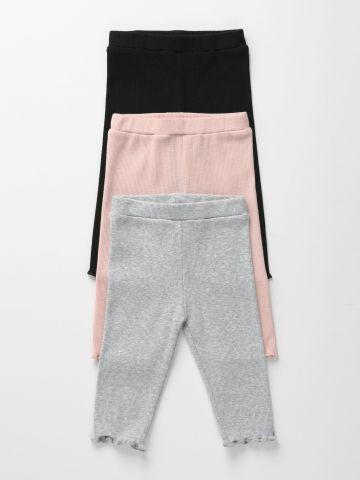 מארז 3 מכנסי ריב דקים / 0-6Y