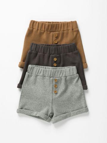 מארז 3 מכנסי ריב קצרים / 0-2Y