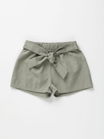 מכנסיים קצרים עם אלמנט קשירה / 2-6Y