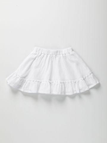 חצאית קרפ עם מלמלה / 2-6Y