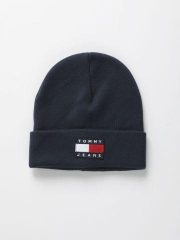 כובע גרב עם רקמת לוגו / נשים
