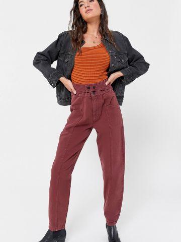ג'ינס Baggy עם חגורה מובנית BDG