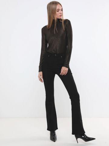 ג'ינס סקיני מתרחב בגזרה גבוהה
