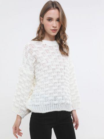 סוודר בדוגמת שתי וערב