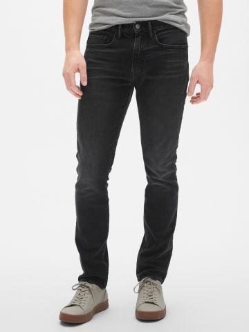 ג'ינס סקיני סטרץ' עם הלבנה