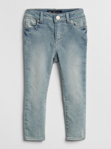 ג'ינס סקיני סטרץ' בשטיפה בהירה / 12M-5Y