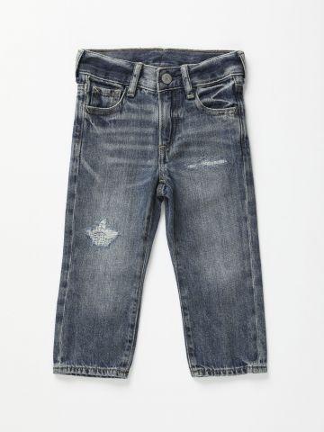 ג'ינס סלים עם שפשופים / 3M-3Y