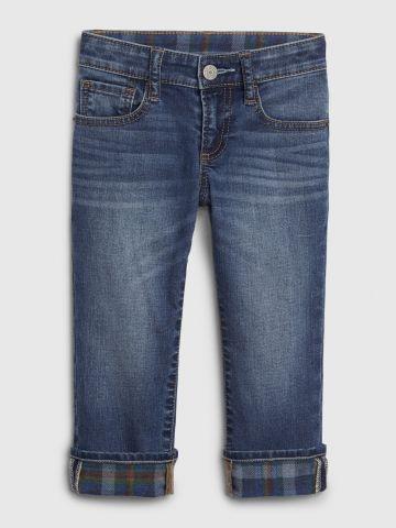 ג'ינס עם בטנת משבצות של GAP