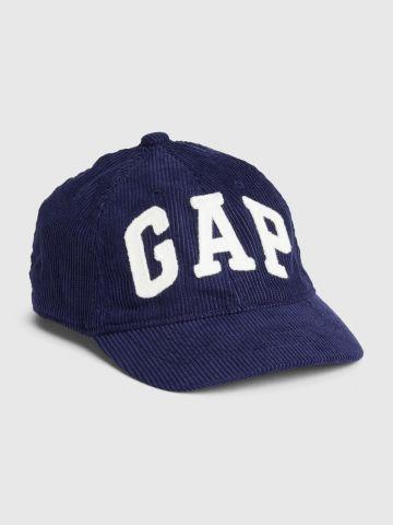 כובע מצחייה קורדרוי עם לוגו / בייבי