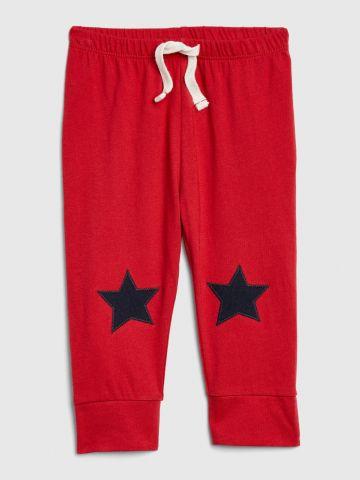 מכנסי טרנינג עם רקמת כוכבים / 0-24M